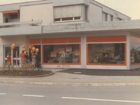 Kilchenmann Geschichte 1976 zeigt Verkaufsgeschäft in Kehrsatz