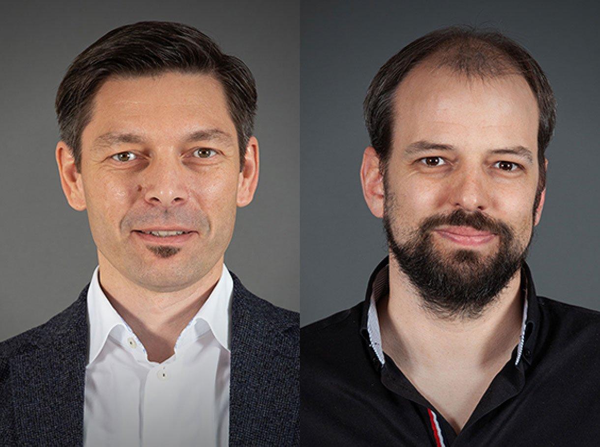 Adriano Beti (links) und Rolf Aegerter (rechts)