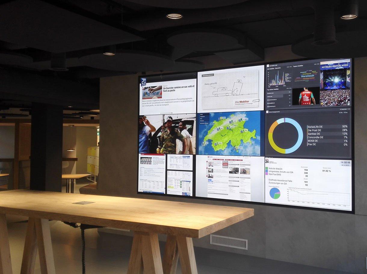Einrichtung bei Mobiliar mit Kilchenmann Panels in einem Besprechungsraum