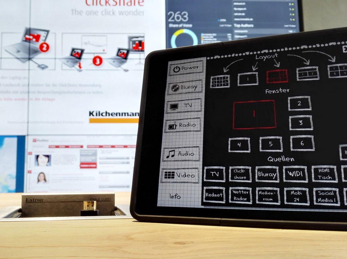 Referenzbild Mobiliar Mediensteuerung
